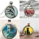 Cabochon Necklace Pendants Animals and Sealife