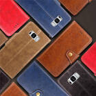 For Samsung Galaxy S8+ Plus Thin Classic Leather Wallet Case Cover + Wrist Strap