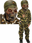 Zombie Halloween Army Boys Soldier Action Man Fancy Dress Costume Outfit 4-12