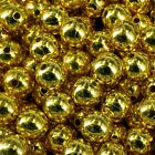 CHRSITMAS GOLD or SILVER PEARLS 80 BEADS 10mm CRAFT PB10