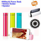 Portable 3 in 1 Power Bank 4000mAh+Speaker + Mobile Stand for iPhones & Androids