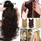 UK Long Real Straight Curly Wire Headband 1 Piece Clip in on Hair Extensions Hn1