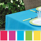 PEVA Coloured Tablecloth Reusable Wipeable Indoors & Outdoors 150x220/130x180cm
