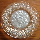"""12 Vtg ~ BEAUTIFUL ~ Clear Glass PANSY 8 1/2"""" Frosted PLATES ~ STUNNING SET !!!"""