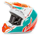 Fly Racing Kinetic Pro Series Canard Replica Orange and Teal Youth Helmet