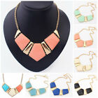 Women Girl Resin Pendant Chain Bib Collar Statement Necklace Jewelry