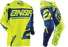 NEW 2018 ANSWER RACING SYNCRON YELLOW BLUE ADULT RACE GEAR COMBO JERSEY PANTS MX