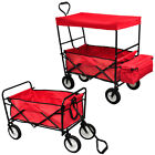 NEW GARDEN TROLLEY HAND UTILITY TRUCK WHEELBARROW75KGwith roof or withour roof