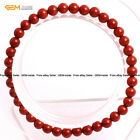 Mens Womens Natural Red Jasper Stone Beads Energy Healing Stretch Bracelet 7""