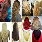 Super thick 3 4 Wig Fall Half Wig Clip In On Hair Piece long curly straight US8