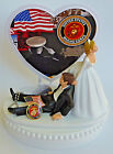 Wedding Cake Topper USMC Marines Corps Themed Military w/ Bridal Garter Groom's
