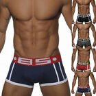 Men Cotton Underwear Boxer Briefs Shorts Bulge Pouch Underpants Breathable