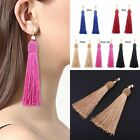 1 Pair Women Girl Fashion Weave Tassel Earrings Boho Long Drop Earrings Jewelry