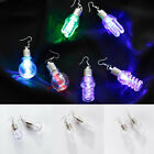 Women's Eye-Catching Colorful Dangle Light Bulb Long Earrings Dance Club Novelty