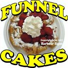 Funnel Cakes DECAL (Choose Your Size) Food Truck Sticker Concession