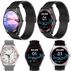 New Leather Stainless Steel Strap Bluetooth Smart Wrist Watch Heart Rate Monitor