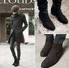 Hot Men's High Top Leisure Pointy Toe Suede Cuban Riding Ankle Chelsea Boots New