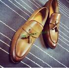 British Mens Pointy Toe Brogue Slip On Loafers Dress Formal Tassel Wedding Shoes