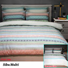 3 Pce Sibu Multi Reversible Quilt Doona Duvet Cover Set by Apartmento QUEEN KING