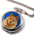Finnish Spitz Dog Full Hunter Pocket Watch (Optional Engraving)