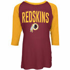 Washington Redskins 17 Girls Sequin 3 4 Sleeve Raglan T-Shirt