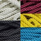 "Decorative Twisted Soft 3/8"" Trim Cord - Polyester/Cotton Blend Soft Rope"