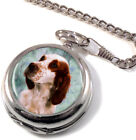 Irish Red and White Setter Full Hunter Pocket Watch (Optional Engraving)