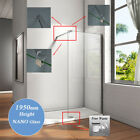 Multi-angle Bar 1950mm Wet Room Shower Enclosure Walk In 8mm Glass Cubicle Tray