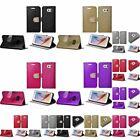 Shiny PU Leather Bling Flip Wallet Credit Card Case Cover For Samsung Galaxy S6