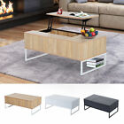 "Coffee Table Tea 43"" Lift Top Storage Drawer Wood Living Roo"