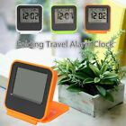 Pocket Foldable LCD Digital Travel Desk Alarm Clock Snooze Date Day Thermometer