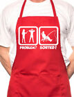 Problem Sorted Gone Fishing Angler BBQ Cooking Novelty Apron