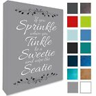 Bathroom Plaque Wall Picture if You Sprinkle..Canvas Print Various Colours/Sizes