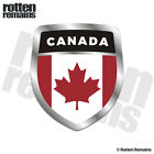 Canada Flag Shield Decal Badge Canadian Car Motorcycle Vinyl Sticker M66