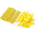 100Pcs Quality Goat Sheep Pig Cattle Beef Plastic Livestock Ear Tag Number Tags