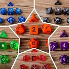 7pcs Set TRPG Game Dungeons & Dragons Polyhedral D4-D20 Multi Sided Dices W
