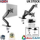 Allcam Gas Spring Desk Mount LCD Monitor Single / Double Twin Arms Stand