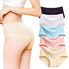 New Women Ice Silk Seamless Panties Lingerie Invisible Underwear Knickers Briefs