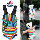 Внешний вид - Small Pet Cat Puppy Dog Carrier Front Pack Hiking Backpack Head Legs Out Rainbow