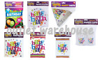 Happy Birthday Party Celebration Balloons Party Hat Napkins Plates Banner