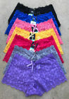 Gift Lot 1 6 or 12 Adult Intimates Boxer Plain Lace Boyshorts Panty XS/S/M/L/XL