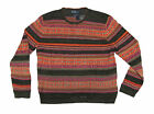 $395 Polo Ralph Lauren Mens Multi-Color Pattern Linen Crewneck Knit Sweater New