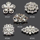 1 Pc Silver Rhinestone Crystal Boots Shoe Buckle Clip Wedding Bridal Accessories