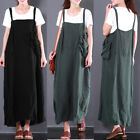8-24 ZANZEA Plus Size Women Casual Vintage Retro Overall Dress Bib Dungarees