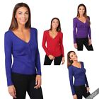 Womens Ladies Soft Knit Button V Neck Classic Cardigan Jumper Sweater Top Work