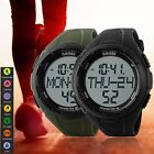 Men's Digital Sports Watch 3D Pedometer Heart Rate Pulsar Steps Countdown Timer