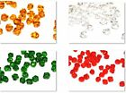 CHRISTMAS CRAFTS - 100 CRYSTAL GLASS COLOURED BICONE CRAFT BEADS - 4mm or 6mm