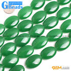 """Oval Drum Jade Gemstone Beads For Jewelry Making Free Shipping 15""""Green Red Pick"""