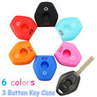 For BMW X5 Z3 Z4 3 5 7 Series E46 E39 Silicone 3Button Remote Key Fob Case Cover