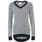 SoulCal Womens V Neck Long Knitted Jumper Sweater Pullover Sleeve
